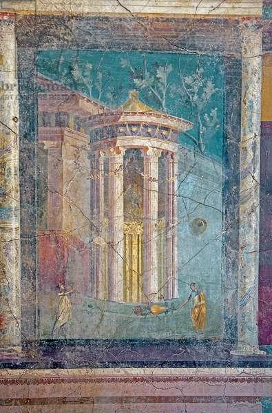 Fresco representing the entrance to a sanctuary, from House IV, Insula Occidentalis 42, Pompeii (fresco)