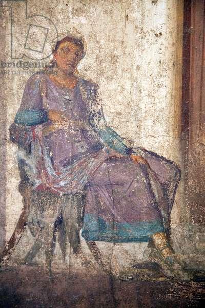 Detail of Paris and Helen, fresco from the House of Jason, Pompeii (fresco)