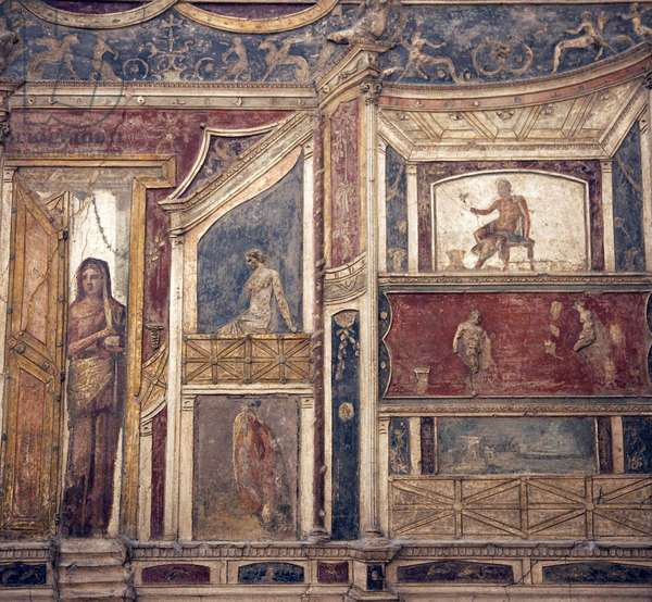 Theatrical decoration, from Boscoreale (fresco)