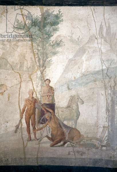 Heracles and Centaur, from the House of Jason, Pompeii (fresco)