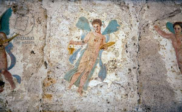 Flying figure, from Villa Arianna in Stabiae (fresco)