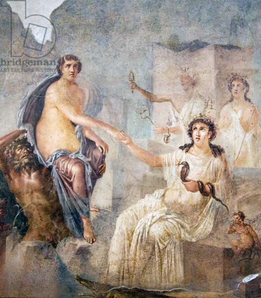 Io Canopos, from the Ekklesiasterion, Temple of Isis, Pompeii, c.1st century (wall painting)
