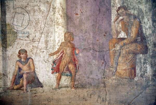 Medea Contemplating the Murder of her Children, fresco from the House of Jason, Pompeii (fresco)
