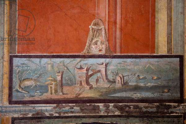 Third Style decoration from the Temple of Isis, Pompeii, c.1st century (wall painting)