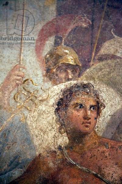 Detail of Achilles returning Briseis to Agamemnon, from the House of the Tragic Poet, Pompeii (fresco)