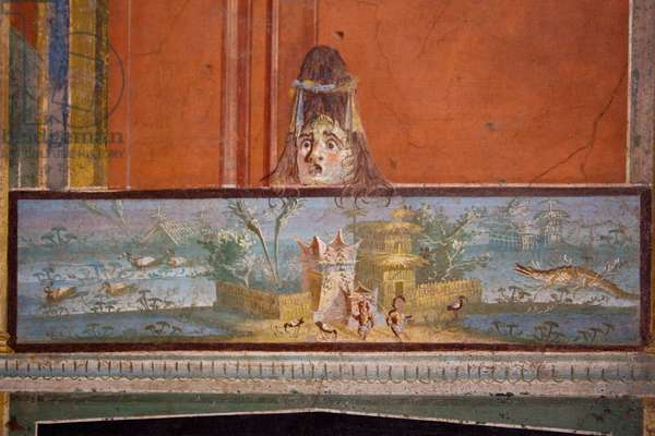 Decoration from the portico of the Temple of Isis, Pompeii, c.1st century (wall painting)