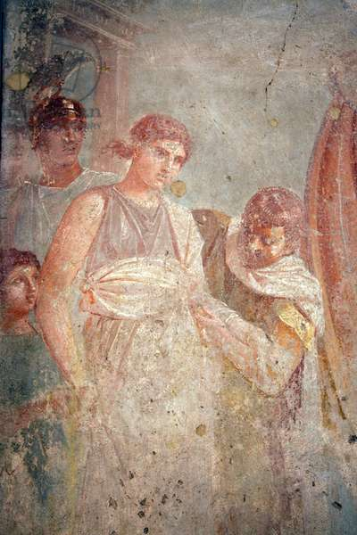 Helen returning to Troy, from the House of the Tragic Poet, Pompeii (fresco)