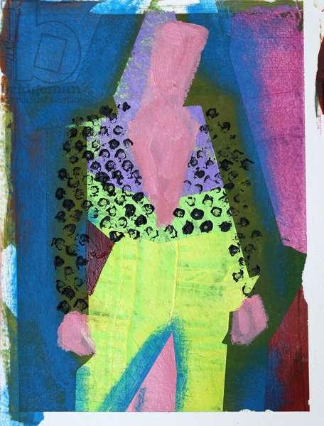 Elle #3, 2020 (acrylic on paper)