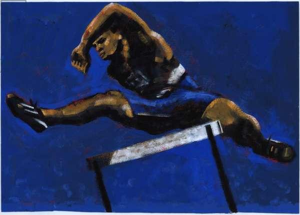 Hurdler, 2009 (acrylic)