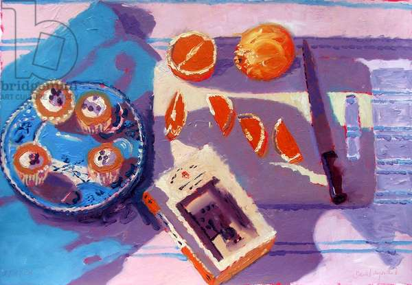 Oranges (oil on board)
