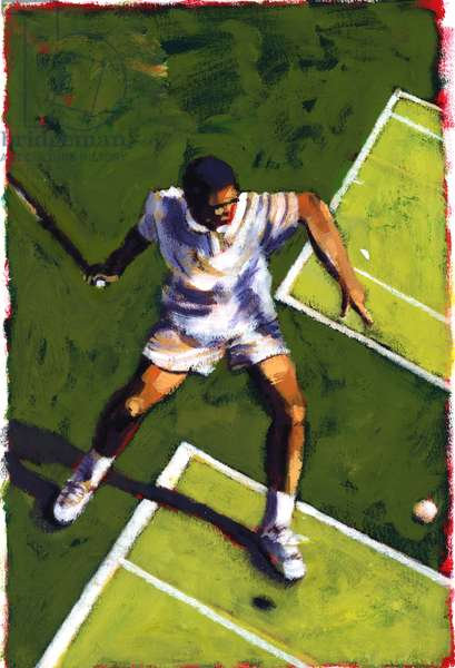 Tennis Player, 2009 (acrylic)