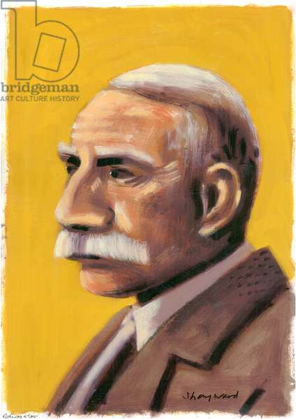 Edward Elgar, 2008 (oil on paper)