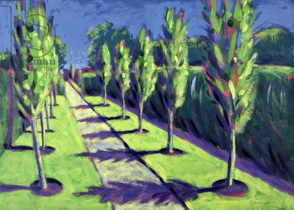 Avenue (acrylic on card)