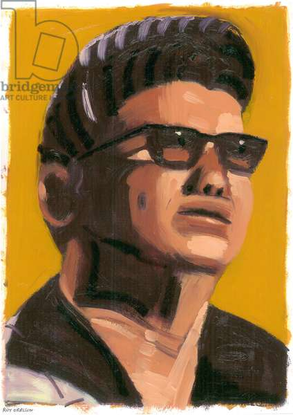 Roy Orbison, 2008 (oil on paper)