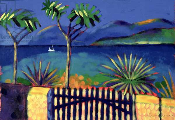 Mediterranean Garden (acrylic on card)