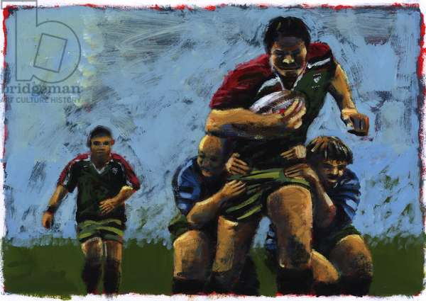 Rugby, 2009 (acrylic)