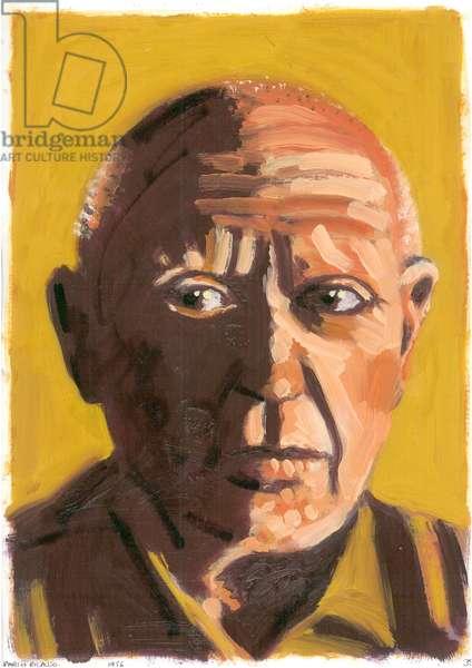 Pablo Picasso, 2008 (oil on paper)