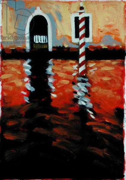 Rio di Sofia, Venice (oil on card)