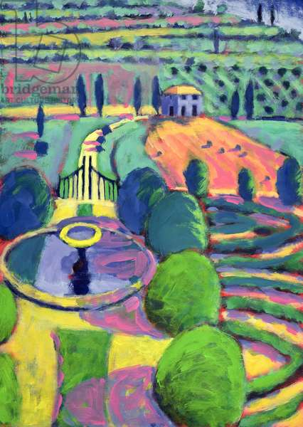 Italian Garden (oil on card)