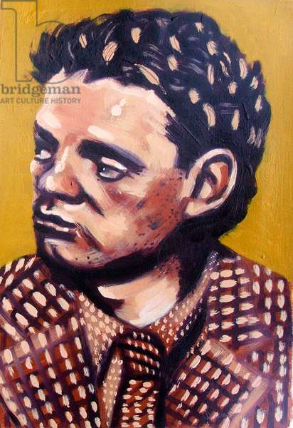 Dylan Thomas (oil on board)