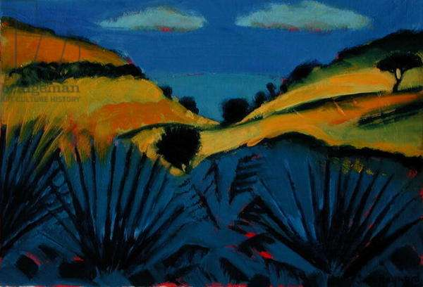 Branscombe (oil on card)