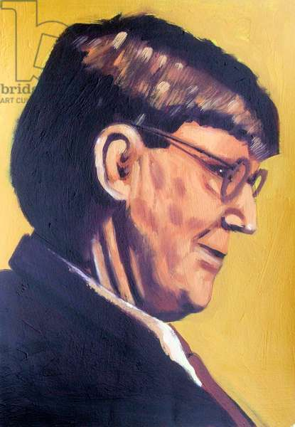 Alan Bennett (oil on canvas)