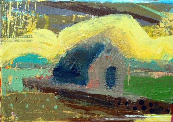Iona chapel II (acrylic on canvas)