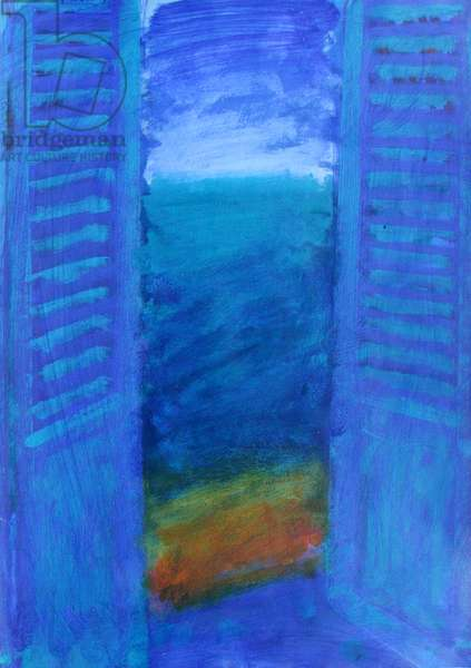 Blue Shutters (acrylic on board)