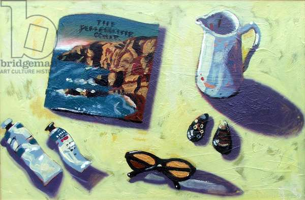 Travel Brochure (oil on board)