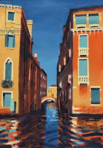 Rio del Duca, Venice (oil on card)