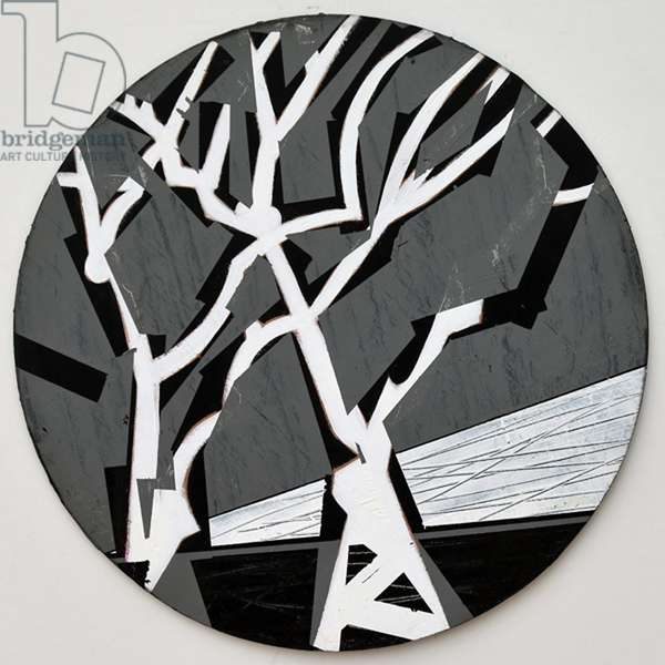 Twixt Heaven & Earth XV-B (acrylic on circular board)