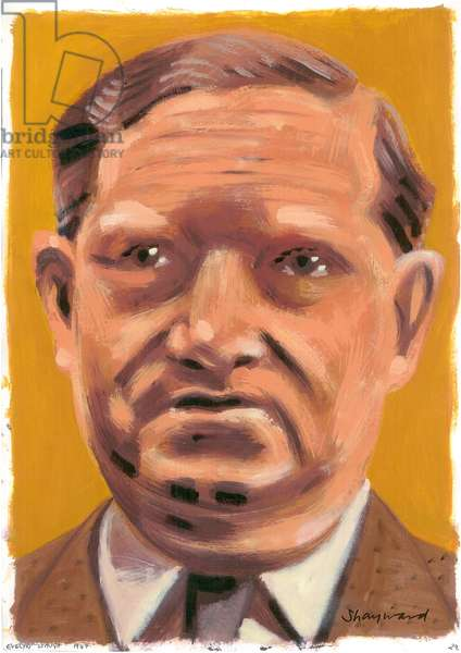 Evelyn Waugh, 2008 (oil on paper)