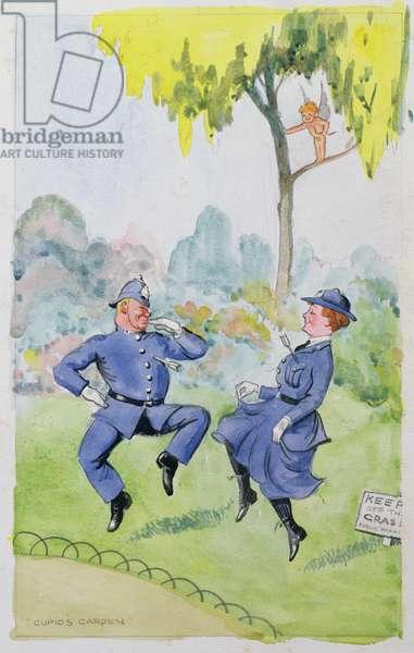 Cupid's Garden, 1932 (w/c on paper)