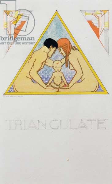 Triangulate, 1936 (gouache on board)