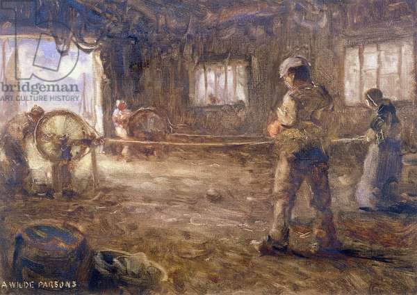 The Rope Walk, 1932 (oil on paper)