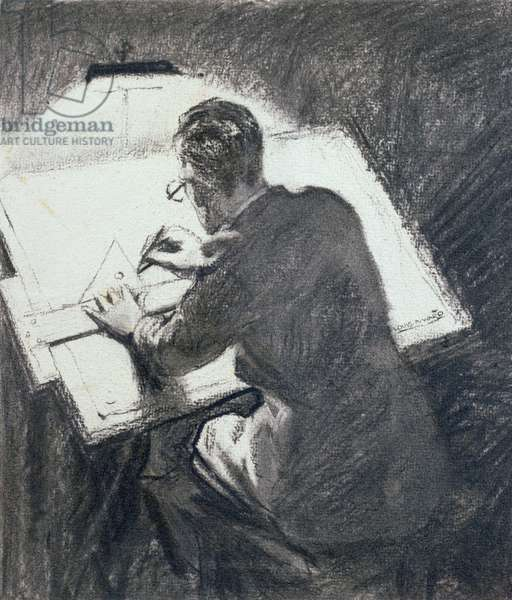 The Line, 1935 (charcoal on paper)