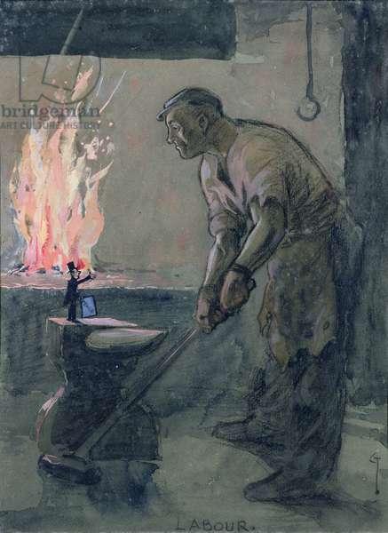 Labour, 1916 (gouache on board)