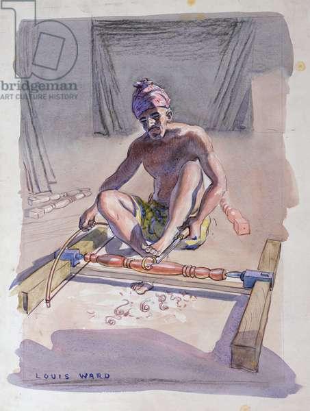 The Woodturner (w/c on board)