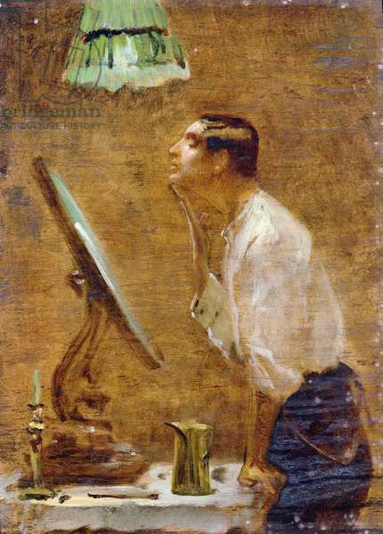 Rough, 1915 (oil on board)