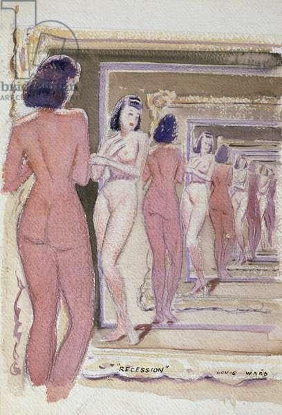 Recession, 1950 (w/c on paper)