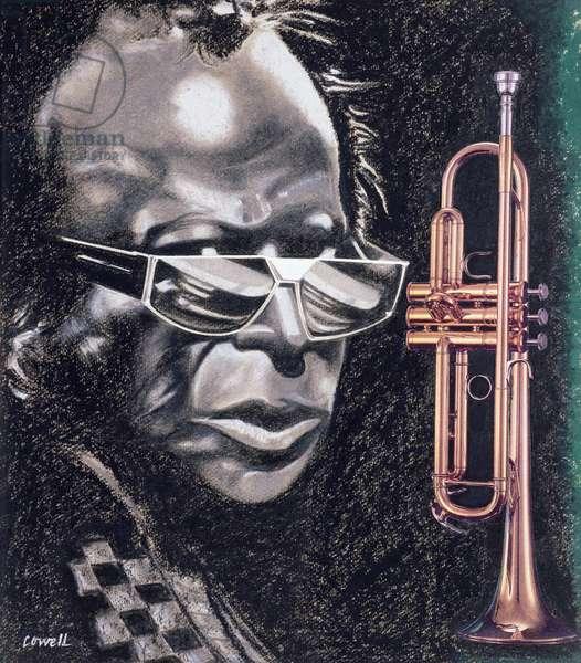 Miles Davis, 1991 (collage on paper)