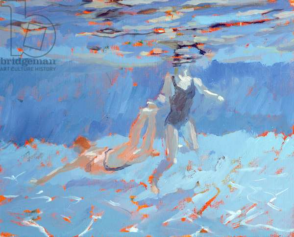 Underwater (oil on board)