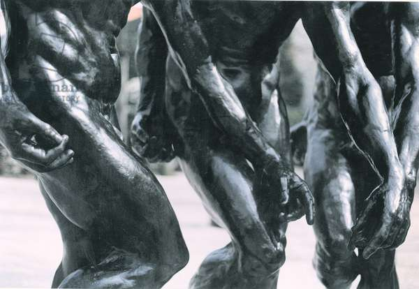 The Three Shades, detail of the torso and arms, 1881 (bronze) (detail of 108012)