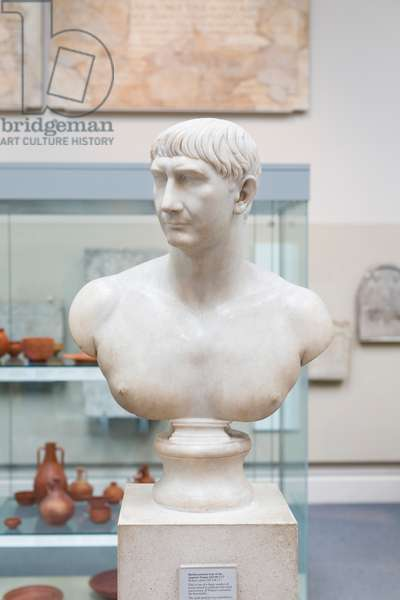 Bust of Trajan, about 108-117 AD