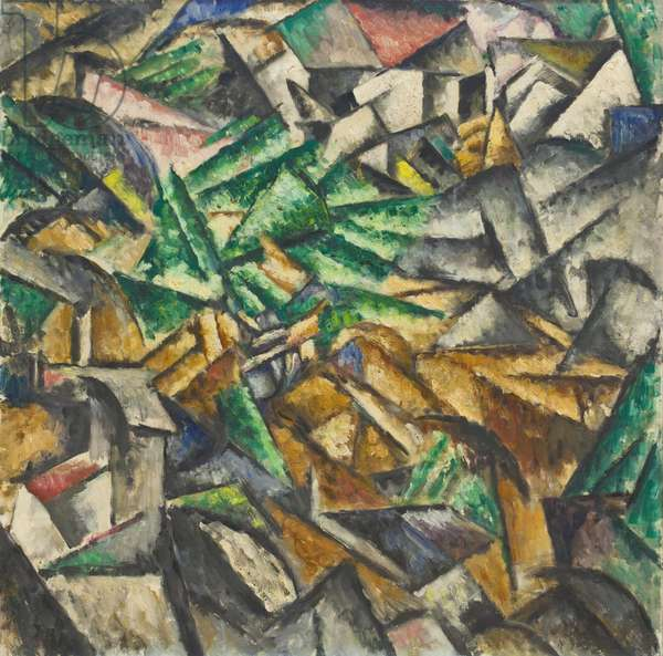 Sintesi di un Paese Primaverile, 1913 (oil on canvas)