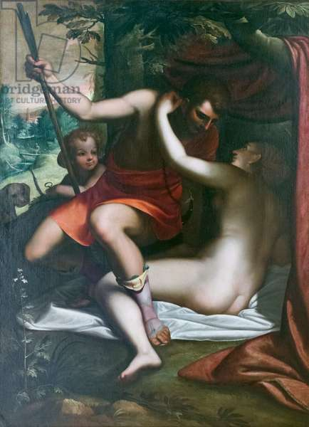 Venus and Adonis, before 1585, Luca Cambiaso (oil on canvas)