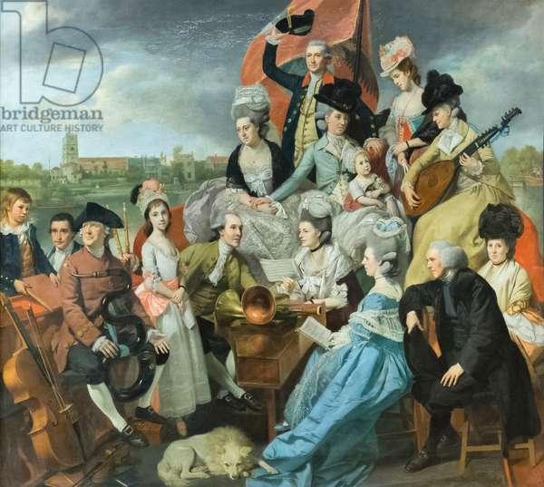 The Sharp family (oil on canvas), 1779-81 (oil on canvas)