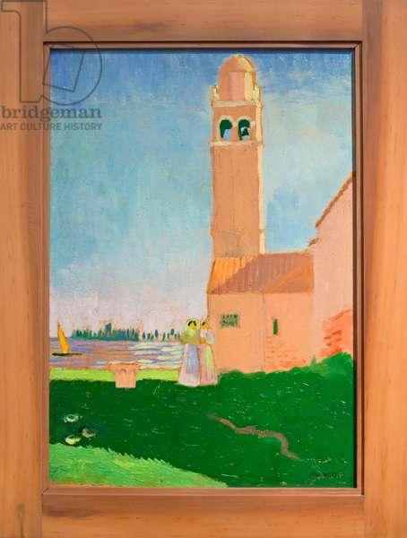 Eglise sur la lagune, 1907 (oil on cardboard)