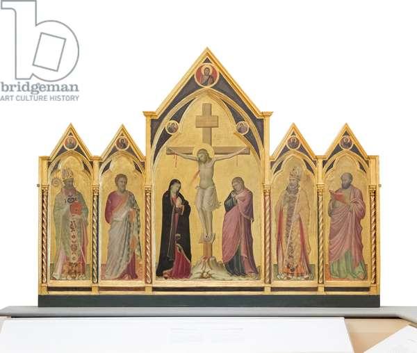 Crucifixion and saints, 1315-20, (panel)