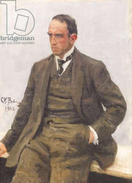 Portrait of Paolo Troubetzkoy, 1908 (oil on canvas)